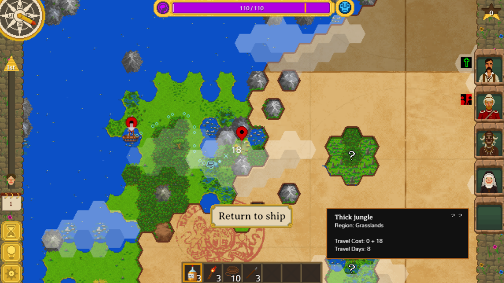 The Curious Expedition Map View