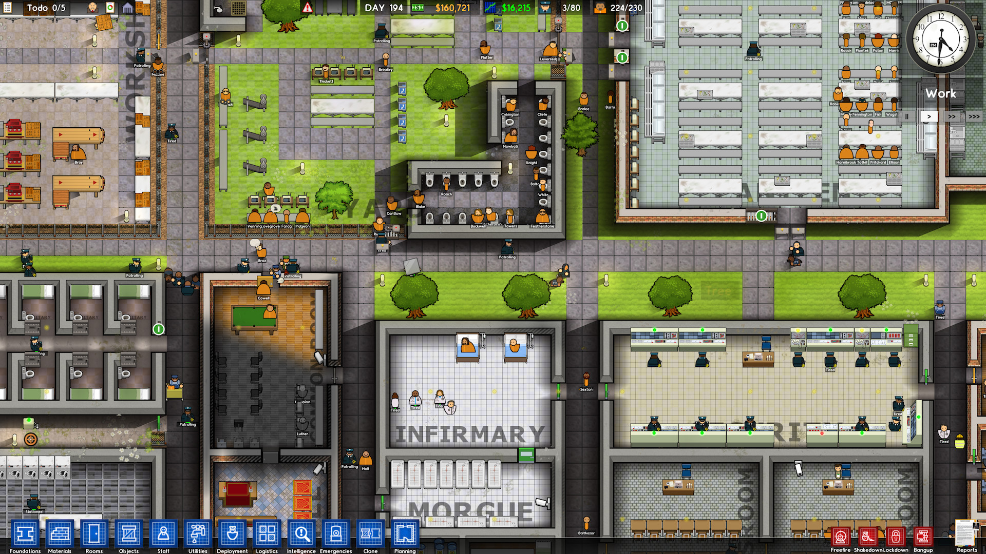 Prison architect update 12 refined staff needs staff for Jail architect