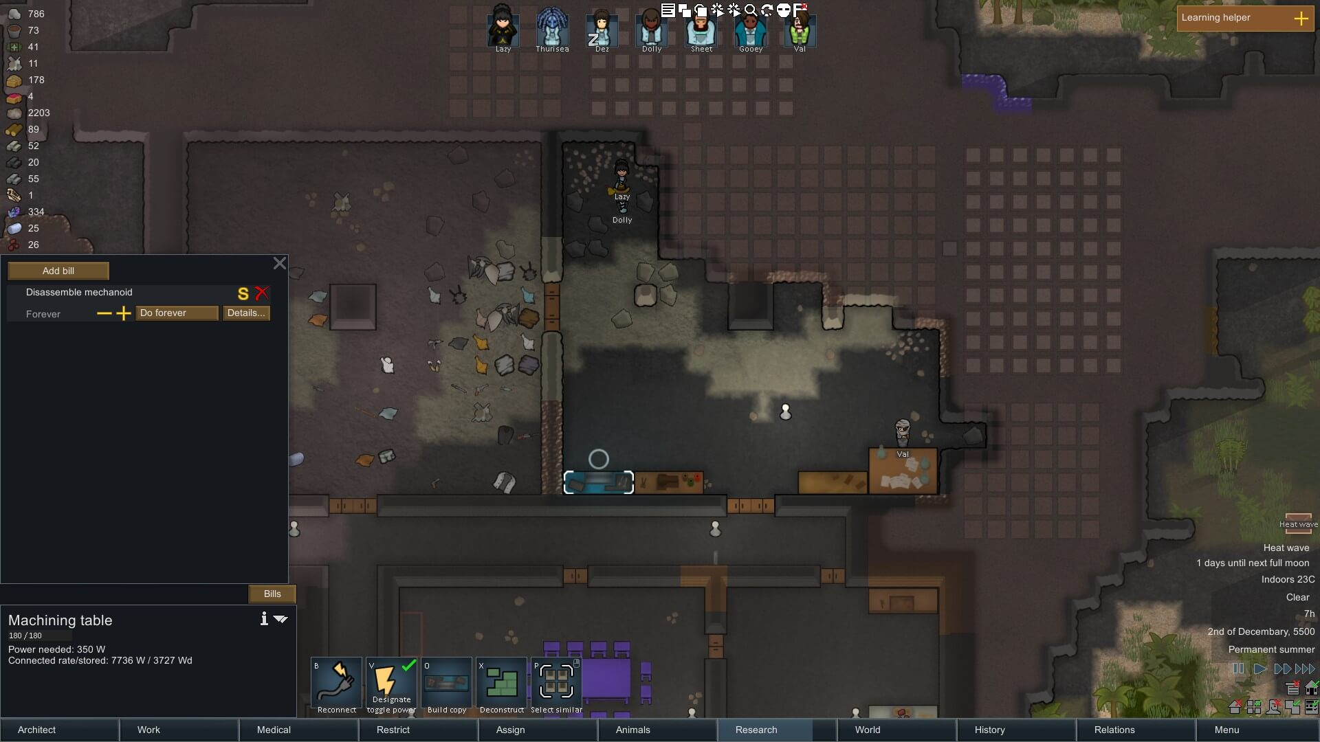 Crafting and Research in RimWorld – Big Boss Battle (B3)